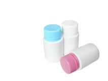 Bottiglia tre multicolore Fotografie Stock Libere da Diritti