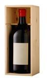Bottiglia in una casella Fotografia Stock