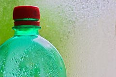 Bottiglia verde fotografia stock