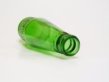 Bottiglia verde Fotografie Stock Libere da Diritti