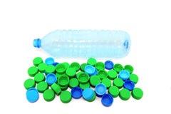 Bottiglia vuota con le protezioni Immagine Stock