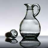 Bottiglia vuota dell'olio di insalata Fotografia Stock Libera da Diritti