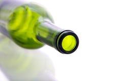 Bottiglia vuota verde Fotografie Stock Libere da Diritti