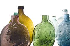 Bottiglie antiche fotografia stock
