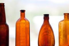 Bottiglie antiche Fotografia Stock Libera da Diritti
