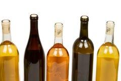 Bottiglie Assorted variopinte di vino Fotografia Stock