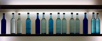 Bottiglie blu Fotografia Stock