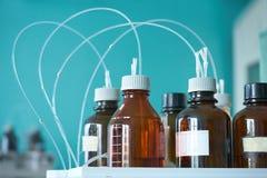 Bottiglie chimiche Fotografia Stock