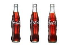Bottiglie classiche del coke Fotografia Stock Libera da Diritti