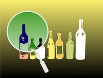 Bottiglie colorate Fotografia Stock