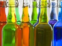 Bottiglie colorate Immagine Stock