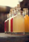Bottiglie con alcool casalingo Fotografie Stock Libere da Diritti