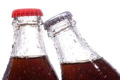 Bottiglie con cola Fotografia Stock