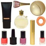 Bottiglie con i cosmetici Immagine Stock