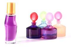Bottiglie con le estetiche Fotografia Stock Libera da Diritti