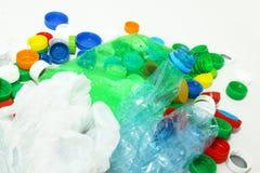 Bottiglie con le protezioni Fotografie Stock Libere da Diritti