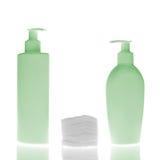 Bottiglie cosmetiche Immagini Stock