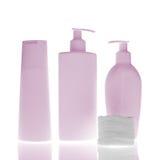 Bottiglie cosmetiche Fotografia Stock