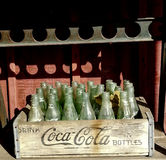 Bottiglie d'annata del coke Fotografia Stock Libera da Diritti