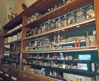 Bottiglie d'annata delle medicine Immagine Stock Libera da Diritti