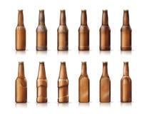 Bottiglie da birra Fotografia Stock