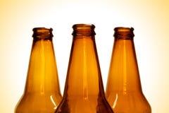 Bottiglie da birra Fotografie Stock Libere da Diritti