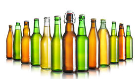 Bottiglie da birra Immagine Stock