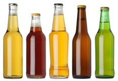 Bottiglie da birra in bianco Fotografia Stock Libera da Diritti