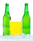 Bottiglie da birra in ghiaccio immagine stock libera da diritti