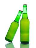 Bottiglie da birra verdi Fotografia Stock