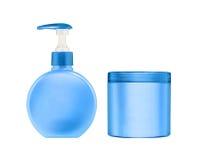 Bottiglie dei prodotti di bellezza e di salute cosmetici Immagine Stock Libera da Diritti