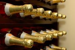 Bottiglie del Cantina-Vino Immagini Stock Libere da Diritti