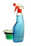 Bottiglie del detersivo. Fotografia Stock