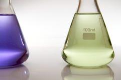 Bottiglie del laboratorio Immagini Stock