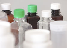 Bottiglie del laboratorio Fotografie Stock Libere da Diritti
