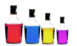 Bottiglie del liquore fotografie stock libere da diritti