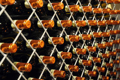 Bottiglie del vino della casa Fotografie Stock