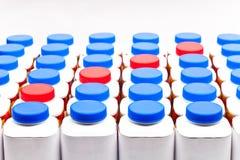 Bottiglie del yogurt Fotografia Stock Libera da Diritti