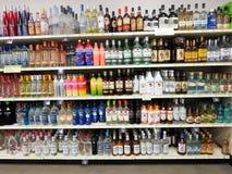 Bottiglie dell'alcool Immagine Stock