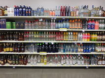 Bottiglie dell'alcool Immagine Stock Libera da Diritti