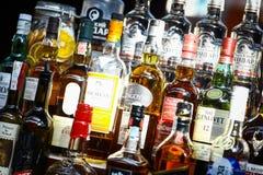 Bottiglie dell'alcool Fotografie Stock Libere da Diritti