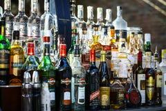 Bottiglie dell'alcool Fotografia Stock