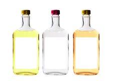 Bottiglie dell'alcool isolate Fotografia Stock Libera da Diritti