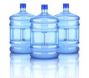 Bottiglie dell'erogatore dell'acqua Fotografie Stock
