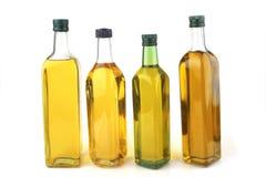 Bottiglie dell'olio di oliva Fotografia Stock