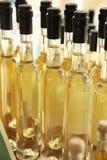 Bottiglie dell'olio di oliva Fotografie Stock