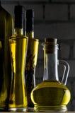 Bottiglie dell'olio di oliva Fotografia Stock Libera da Diritti
