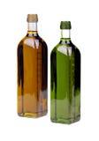 Bottiglie dell'olio di oliva Immagine Stock