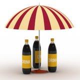 Bottiglie della bevanda royalty illustrazione gratis