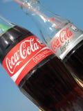 Bottiglie della coca-cola Fotografie Stock Libere da Diritti